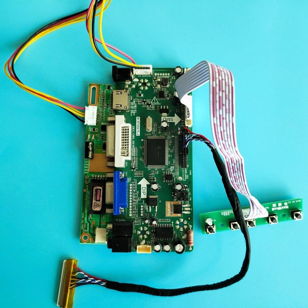 HDMI + DVI + VGA LCD kit für LTN154AT09-801 30pin M.NT68676 moitor Controller Board Display panel Audio 1280X800