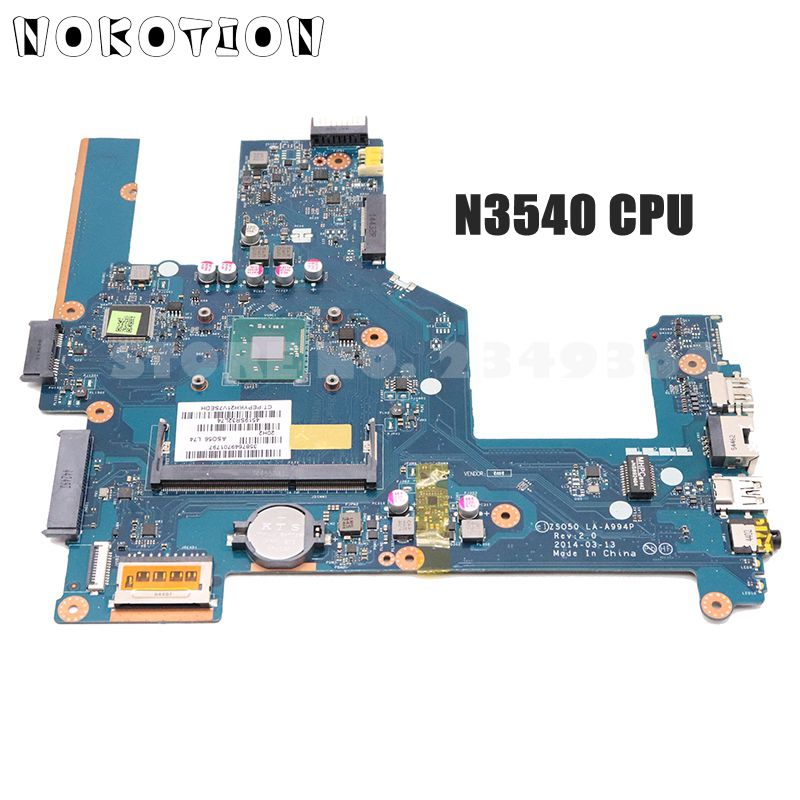 NOKOTION 788287-001 764103-501, 764103-001 para HP Pavilion 15-R 250 G3 placa base de computadora portátil ZSO50 LA-A994P SR1YW N3540 CPU