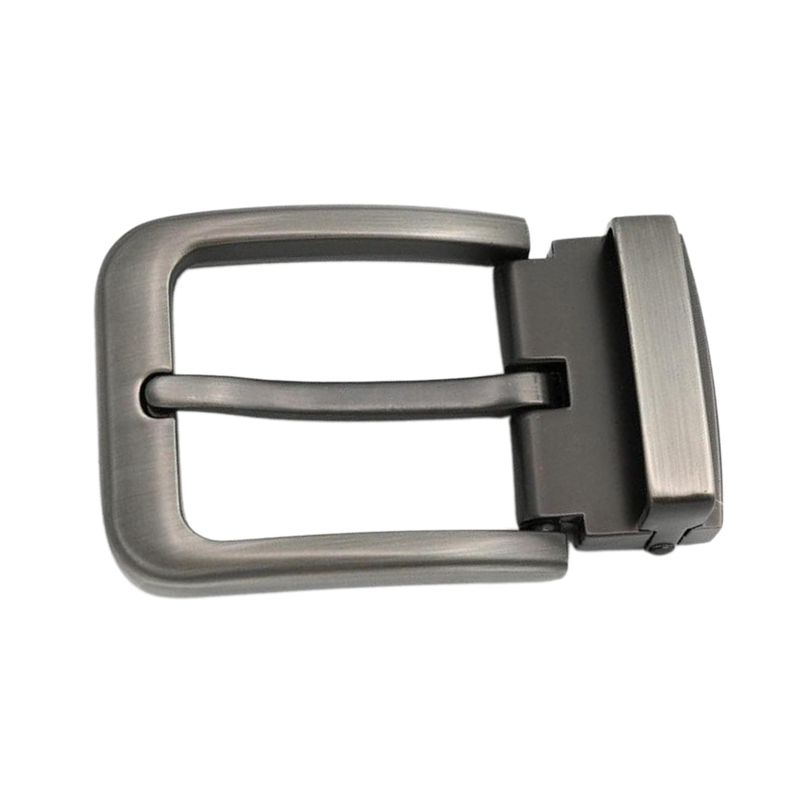 Mens Alloy Reversible Belt Buckle Replacement Antique Rectangular Pin Buckle for 33-34mm Belt
