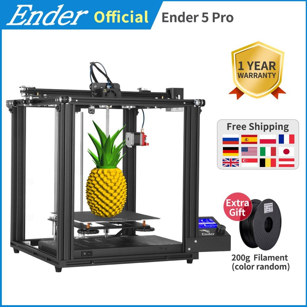 Ender-5 Pro 3D impresora Silent Board Magnetic plate Capricorn Bowden Ender 5Pro potencia off retomar máscaras de impresión Creality 3D