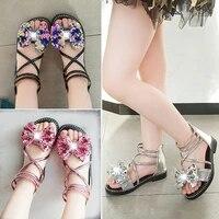 summer girls sandals 2021 new fashion sequin bow kids beach sandals korean version girl princess shoes size 27 37