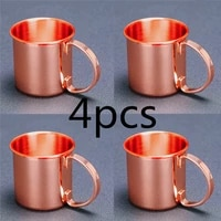 4pieces 470ml hammered copper plated moscow mule mug beer cup coffee cup mug copper plated