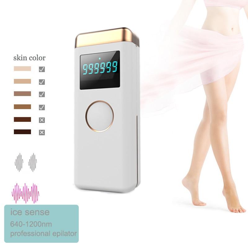 دروبشيب IPL إزالة الشعر الجليد ضغط الليزر Depilator 640nm ضوء نابض مكثف لنزع الشعر الحميمة المنزل استخدام للرجل امرأة