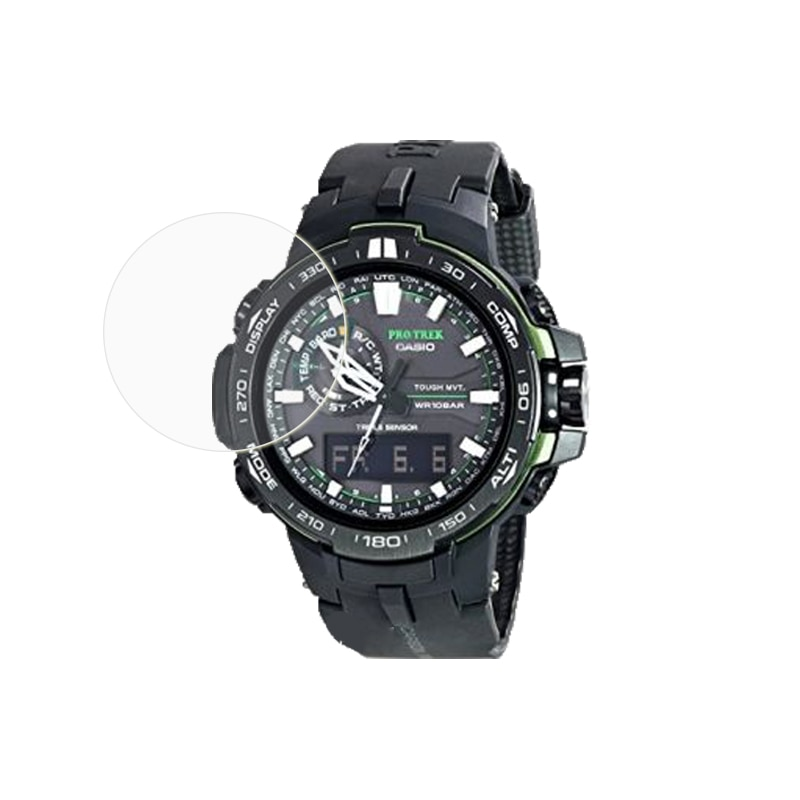 5 pçs hd filme protetor de tela clara para casio PRW-6000Y PRW-6100 prw6600 prg600 prw6000y smartwatch protetor vidro temperado