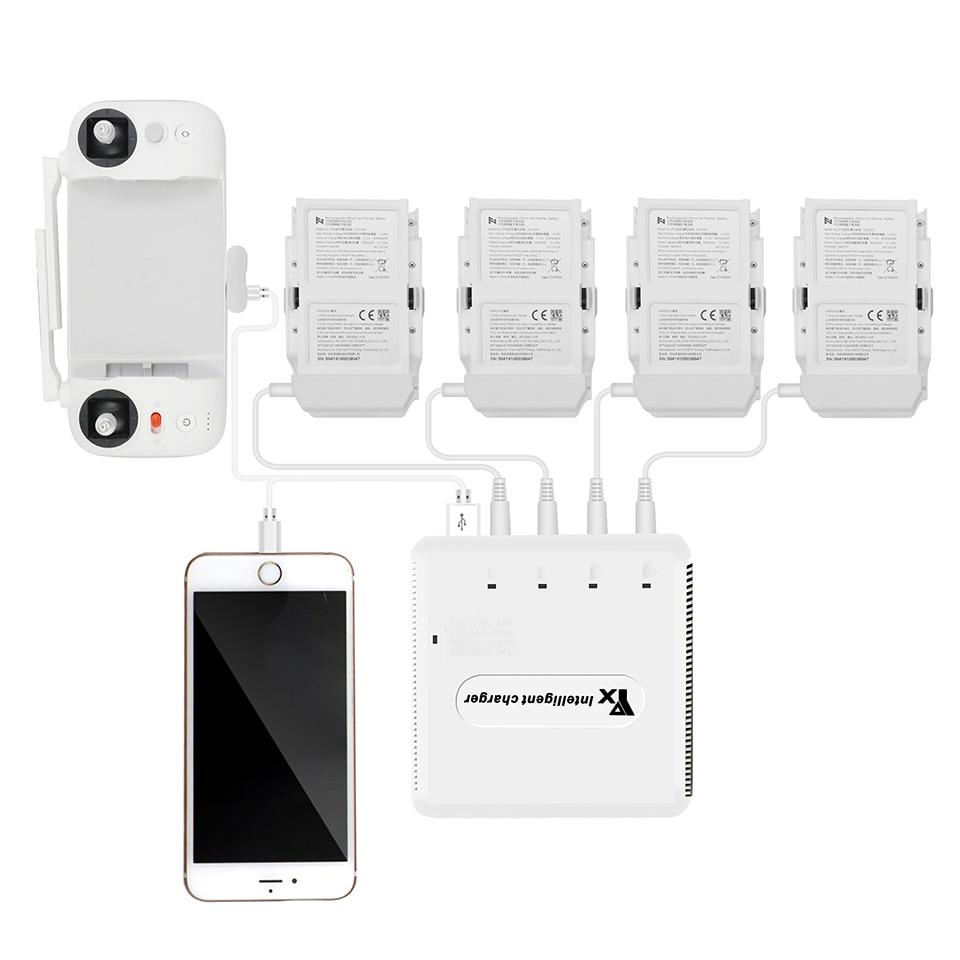 Multi Batterie Lade Hub FIMI X8 SE Batterie Schnelle Ladegerät Intelligente Schnelle Lade w/Lagerung Modus USB Out für x8 SE Drone