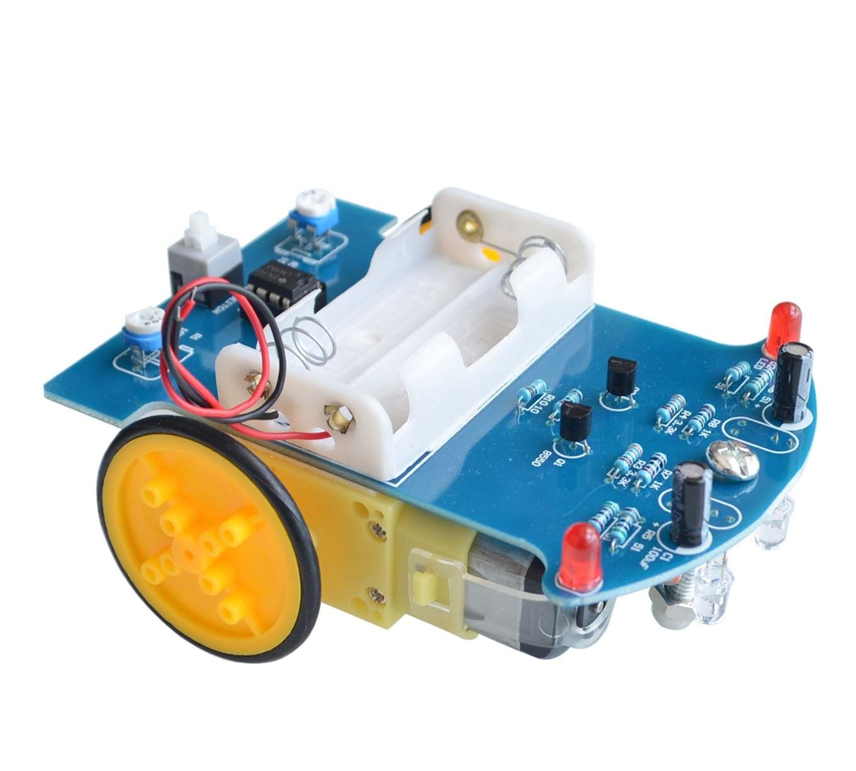 D2-1 DIY Kit Intelligent Tracking Line Smart Car Kit TT Motor Electronic DIY Kit Smart Patrol Automo