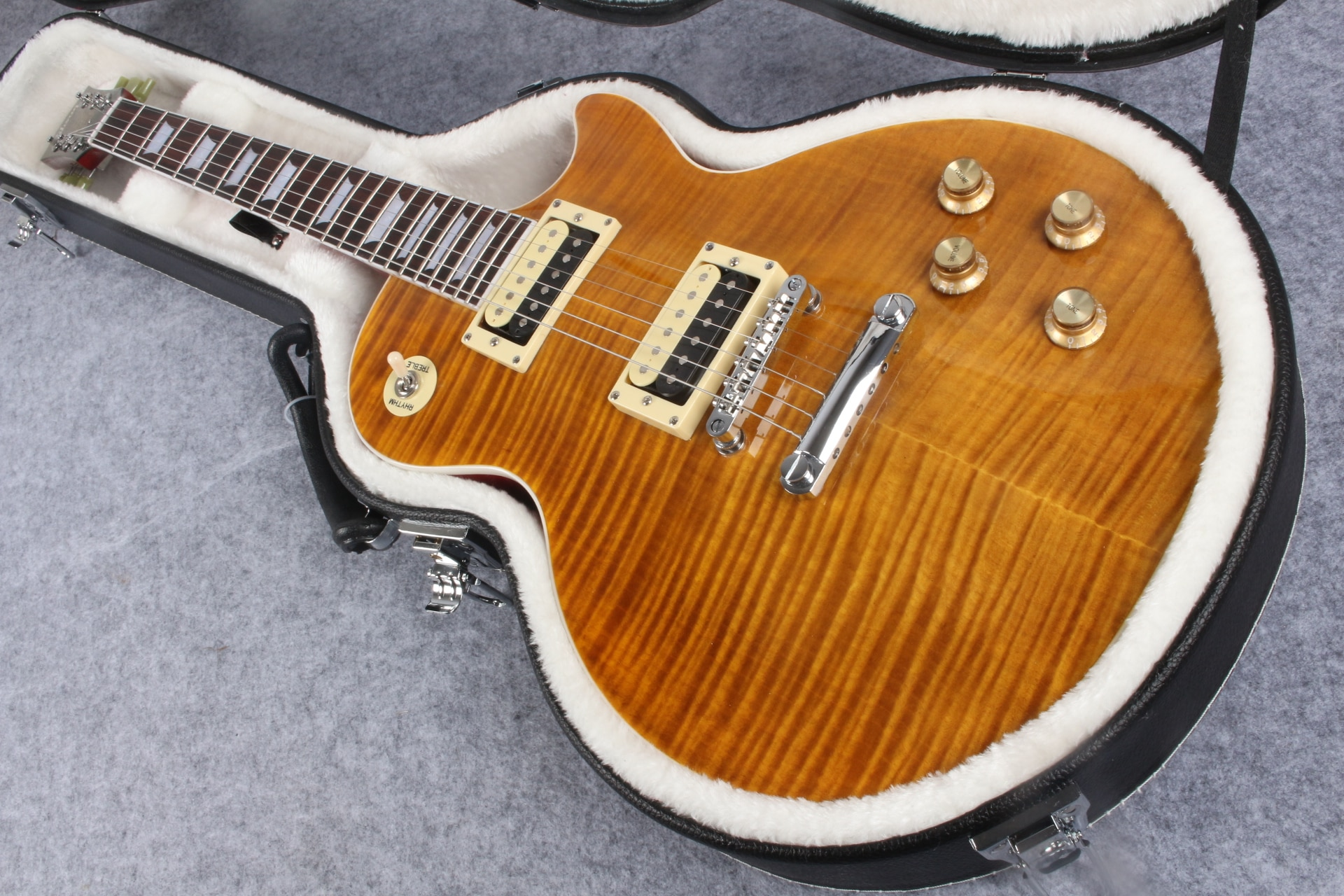standard guitar high quality electric guitar, Flame maple top, free shipping
