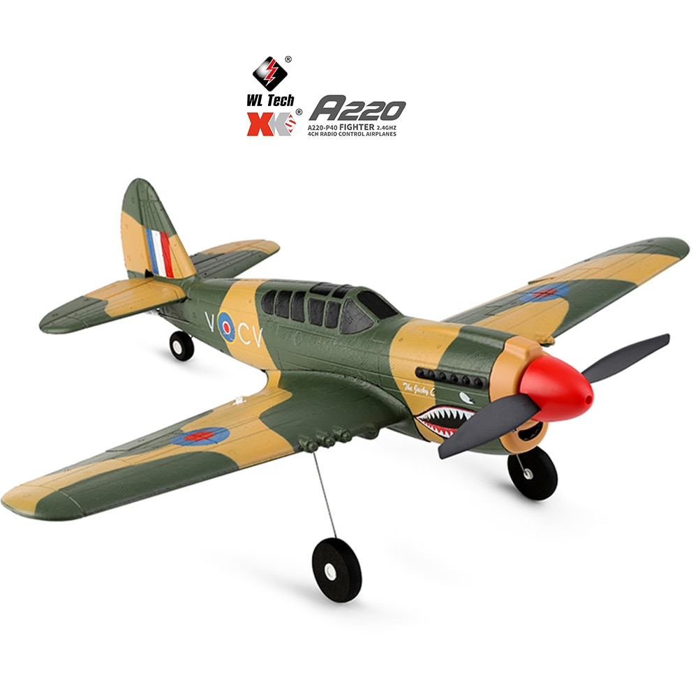 2021 New Wltoys A220 RC Airplanes Four-Channel Like Real Machine P40 Fighter Remote Control Glider Unmanned Aircraft Outdoor Toy enlarge