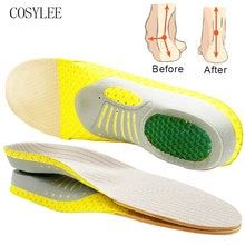 Orthotic Insole Arch Support PVC Flat Foot Health Shoe Sole Pad insoles for Shoes insert padded Orth