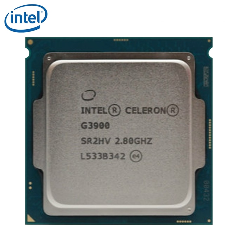 Intel Celeron G3900 2,8 GHz 2M Cache 51W procesador de CPU de doble núcleo SR2HV LGA 1151 bandeja probada 100% de trabajo