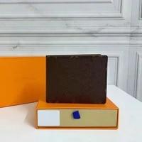 2021 luxury classic menwomen short wallet fashion folding pocketbook with box short skin wallets purses leather money
