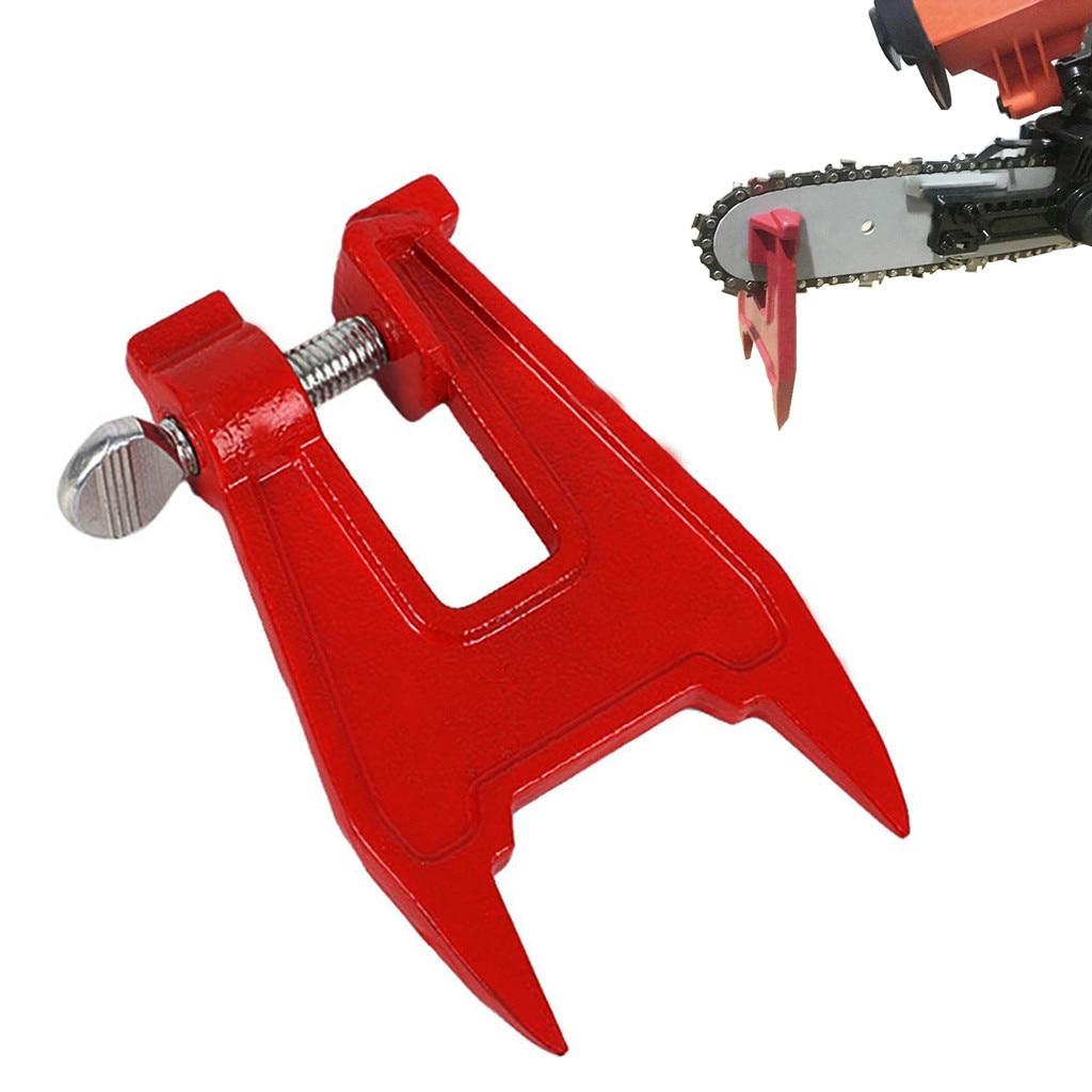 De Metal de tornillo de sierra de cadena de afilar herramienta de presentación Bar abrazadera motosierra accesorios piezas de herramientas de prensa para cualquier motosierra propietario
