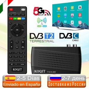 Europe HEVC 5G DVB-T2 DVB C Digital Terrestrial Decoder DVB T2 Tv Tuner H.265 IPTV Tv set-top box DVBT2 DVB-C Meecast Cast Stick