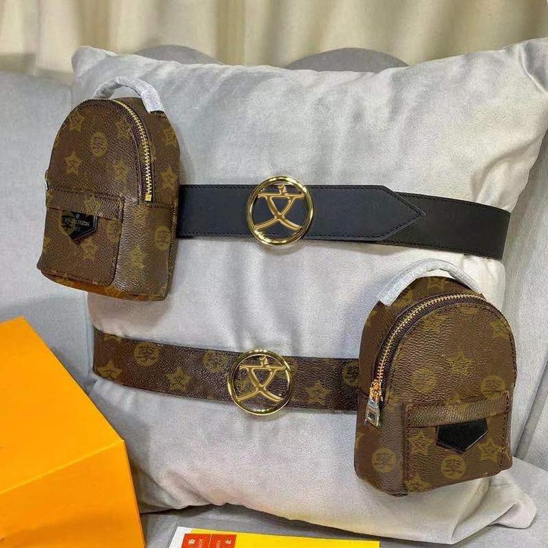 Popular logo 2021vvl men's real cowhide retro mobile phone  with belt givingbelt belt double vertical waist strap waist type bag