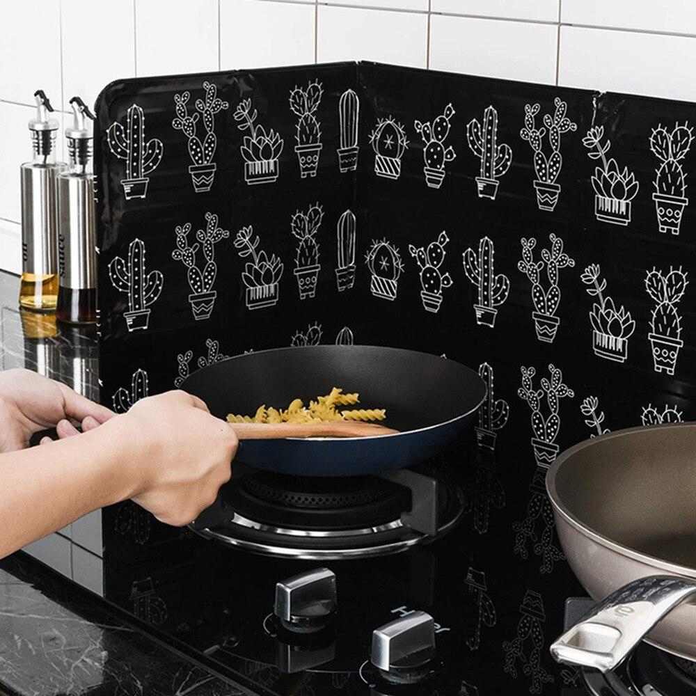 Алюминиевая Складная кухонная газовая плита перегородка Плита Кухонная сковорода защита от брызг масла экран Kichen аксессуары