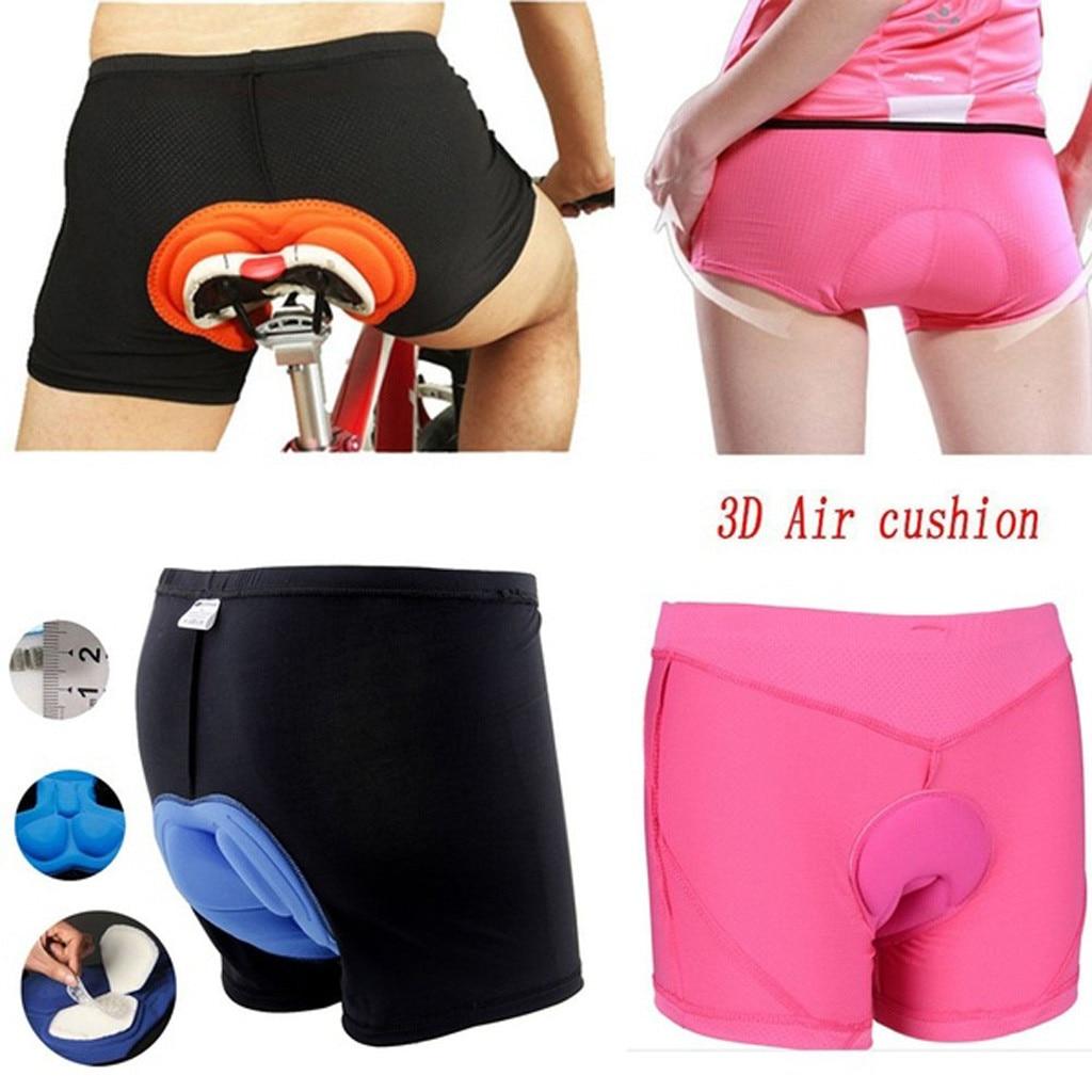 #H30 Unisex Black Bicycle Cycling Pants Solid Comfortable Underwear Sponge Gel 3D Padded Bike Short