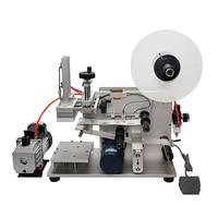 LT-60 Semi Automatic Pneumatic Flat Labeling Machine Medicine Drugs Bottle Labeling Device with Vacuum Pump 220V 110V