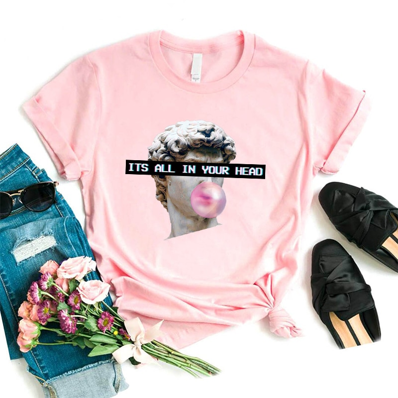 Vaporwave Aesthetic T Shirt Harajuk Tee Tops Sad Girl Retro Anime T-shirt Cyberpunk Fashion Male Female Tee Shirt Funny Tshirt