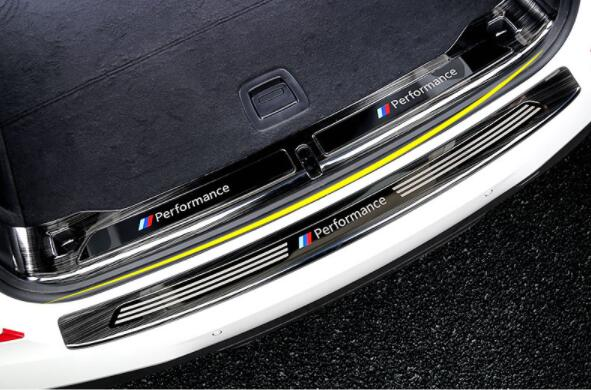 2018 para BMW nuevo X3 caja de reserva hoja posterior 25i28i30i modificado especial caja de cola Barra de decoración de umbral