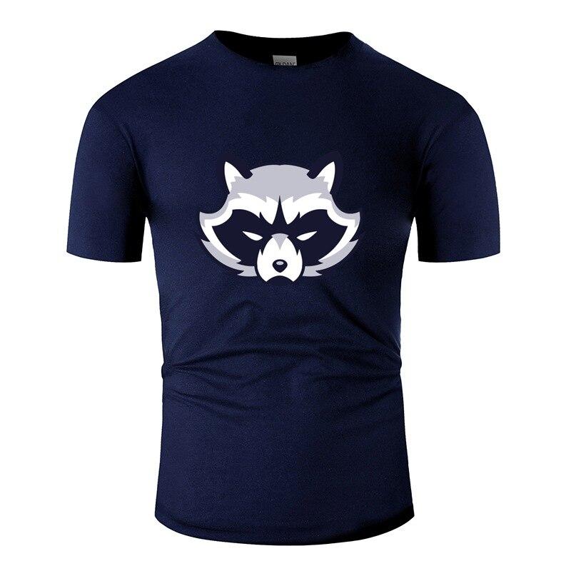 Camiseta de rocket racoon animal louco para homens gola redonda tshirt homem oversize S-5xl famoso hip hop