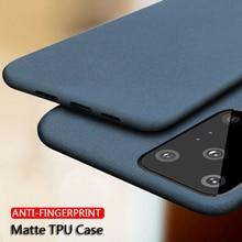 Luxe grès mat étui souple pour Samsung Galaxy S20 Ultra S10 S9 Note 10 Lite Plus A51 A71 A70 A50 A31 A11 M31 A7 2018