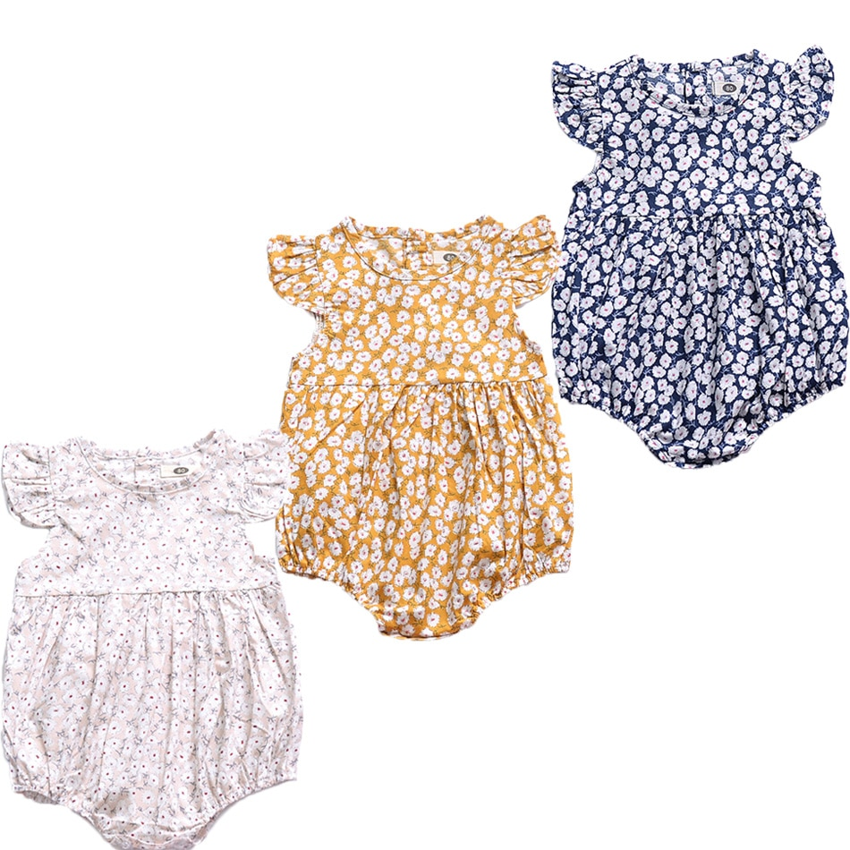6-24M Newborn Clothing Baby Girl Triangle Romper Baby Summer Floral Jumpsuit Cute Baby Girl Clothes Cute Baby Girl Clothes