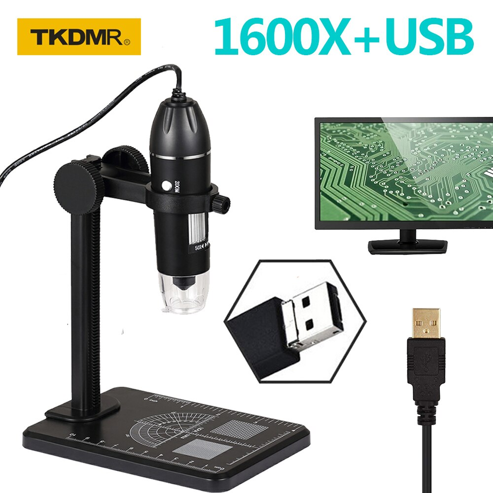 1600x usb digital microscope camera portable electronic microscope for soldering led handheld magnifier for mobile phone repair TKDMR WIFI USB HD Desktop Digital Electronics Microscope Adjustable 1600X 8 LED Zoom Magnifier Mobile For Phone PC Repair Coins