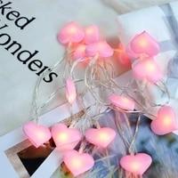 10leds 20leds 40leds led love heart wedding string fairy light holiday christmas lighting garland for party girl bedroom decor