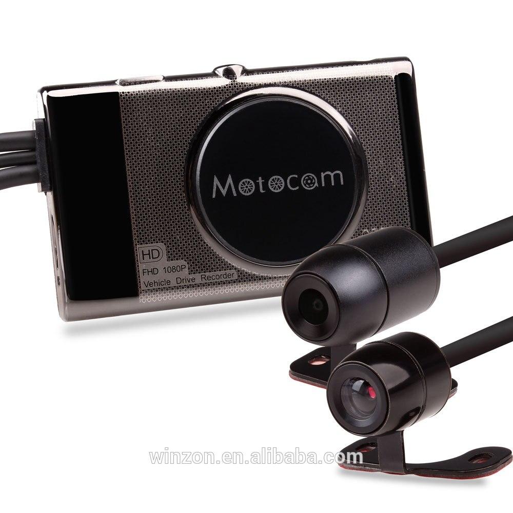 3 zoll 1080P motorrad DVR motorrad volle hd video kamera dual dash cam