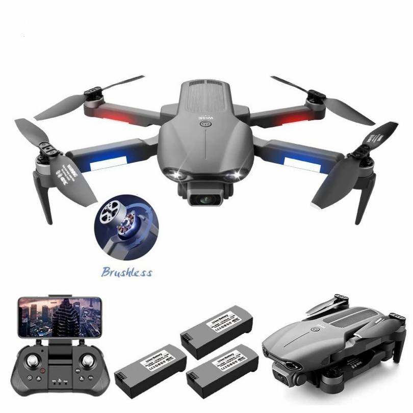 New F9 Drone 6K HD Dual Camera aerial profesional dron GPS Brushless Motor Foldable RC Quadcopter toys for boys rc helicopter enlarge