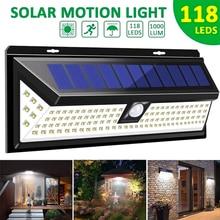 LED Solar Light 54/73/90/118 LEDs 3 Modes Solar Lamp PIR Motion Sensor Wall Light Outdoor IP65 Waterproof Garden Security Lights