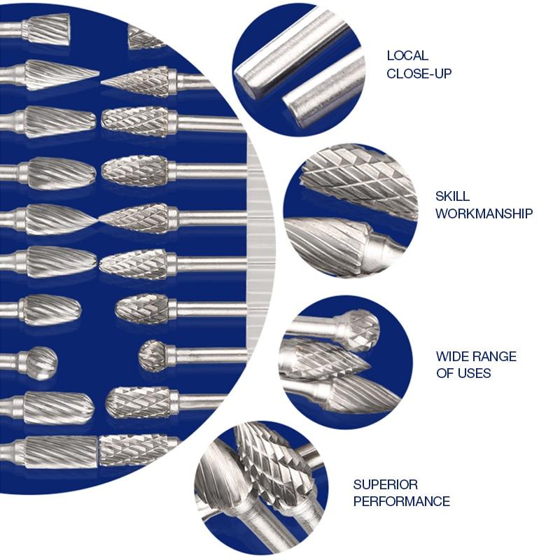 10tk varre volframkarbiidist freeslõikur pöörleva tööriistaga, - Abrasiivtööriistad - Foto 5