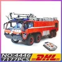 hot building blocks bricks airport crash tender boat crane city firefighter car kids birthday diy toys christmas gift moc 4446