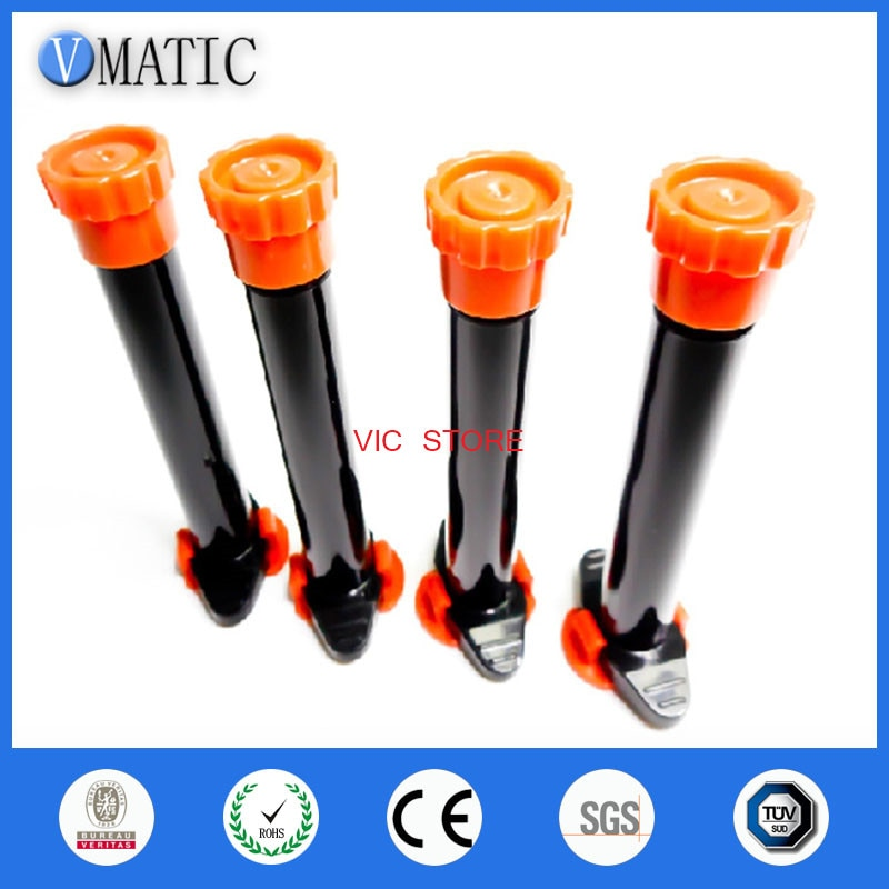 Barril de jeringa de dispensación negra UV de 10cc/ 10ml de gran calidad con tapas/tapón de pistón y cubierta final, sin pegamento en el interior