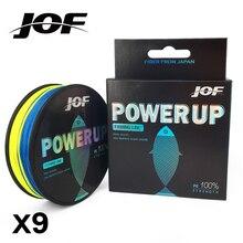 JOF filamentos X9 súper fuertes 150M 9 filamentos tejidos PE trenzado cuerda de pesca