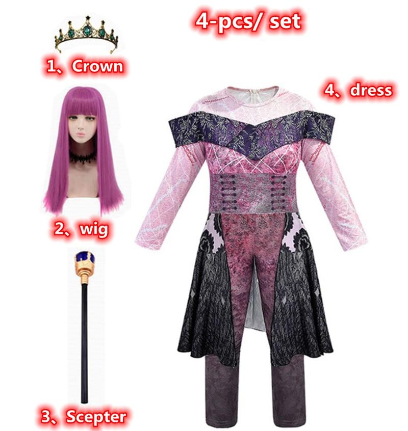 Descendants of the Queen 3 Audrey Evey Halloween Costume Party Fantasia Costume Women's Musical Starlight Heir Children Cosplay tenisha renee descendants of the veil