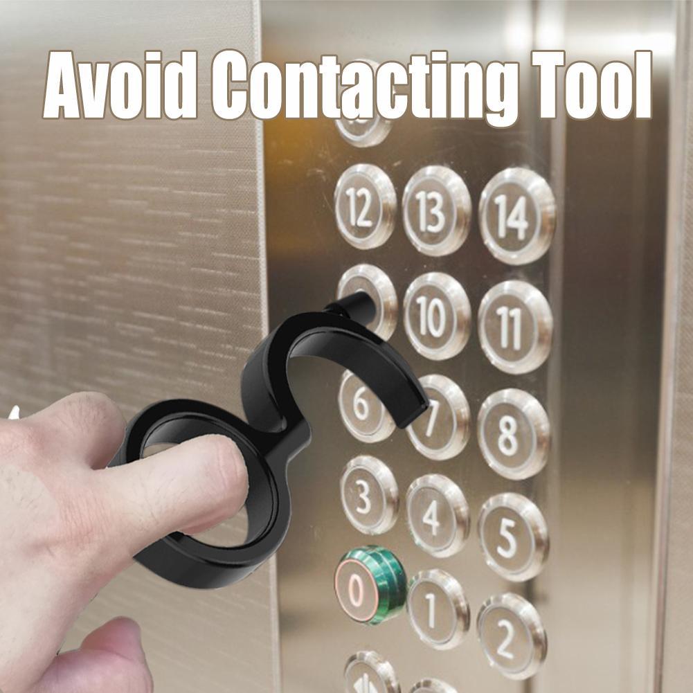 2 uds 5 uds 10 Uds EDC abridor de puerta portátil Kooty, herramienta de gancho de llave sin contacto higiene, herramienta de prensa manual para ascensor