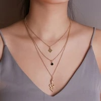 fashion multilayer rhinestone snake pendant necklace for women vintage gold color lock coin cross choker necklaces party jewelry