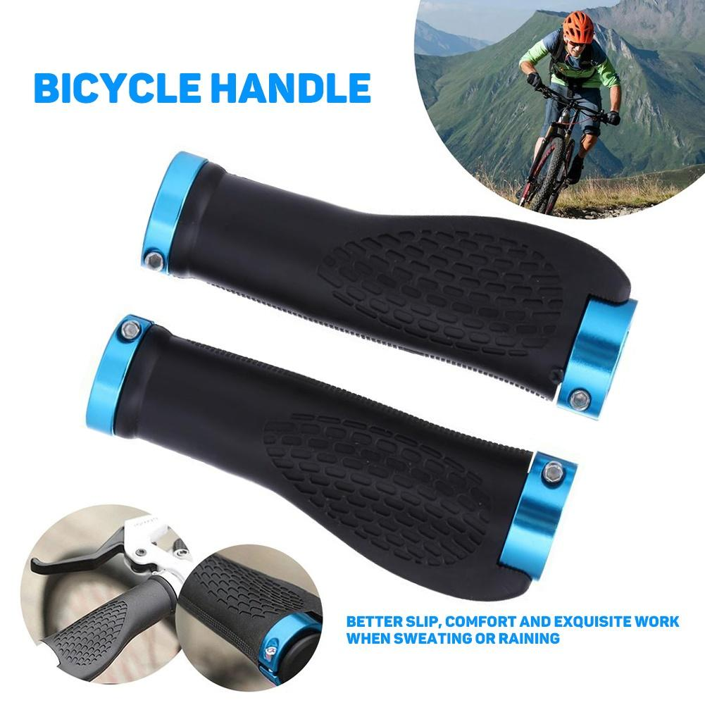 1 par de cubiertas de manillar de bloqueo antideslizantes para bicicleta de montaña y ciclismo MTB con agujeros transpirables, accesorios para bicicleta