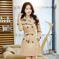 new 2021 womens spring windbreaker mid length casual korean epaulettes wild lapel double breasted ladies trench coat women belt