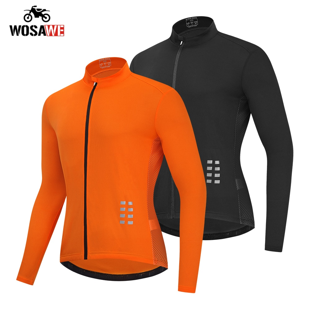 WOSAWE Motorcycle Men's Bicycle Bike Mesh Breathable Jackets Long sleeves Windproof Jackets moto Windbreaker Riding chothing enlarge