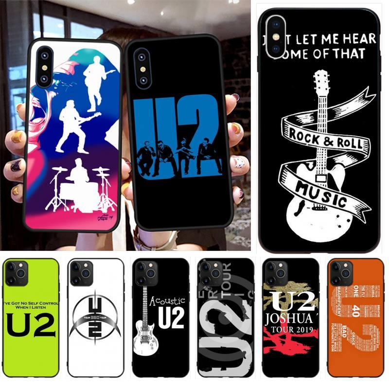 Nbdruicai rock music u2 irlandês macio silicone tpu telefone capa para iphone 11 pro xs max 8 7 6s plus x 5S se xr caso