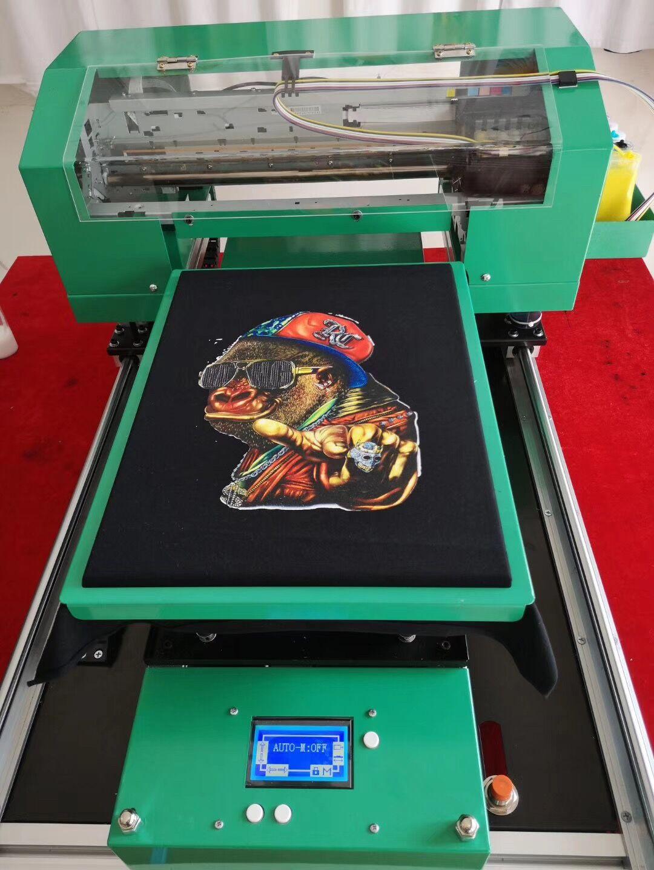A3 принтер для футболок, печать на белой и темной футболках