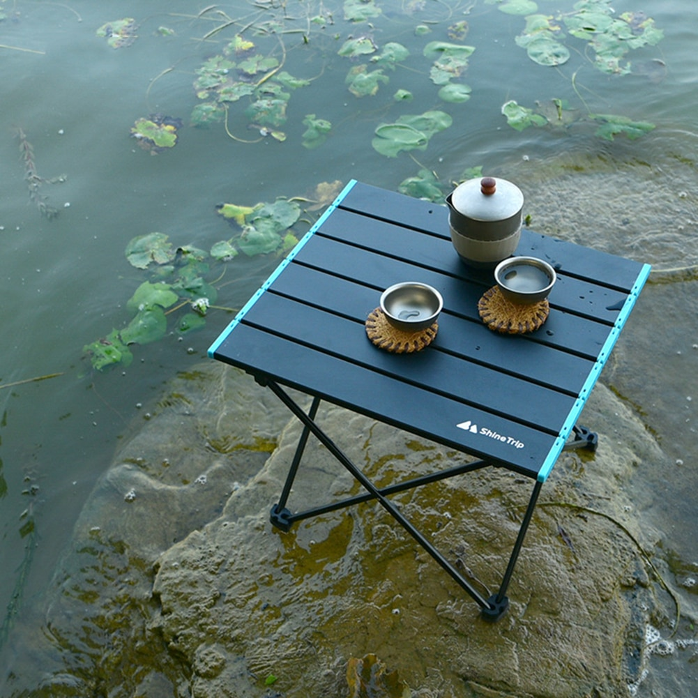 Aluminum alloy folding table multifunctional camping easy to clean portable outdoor barbecue table outdoor hiking picnic table