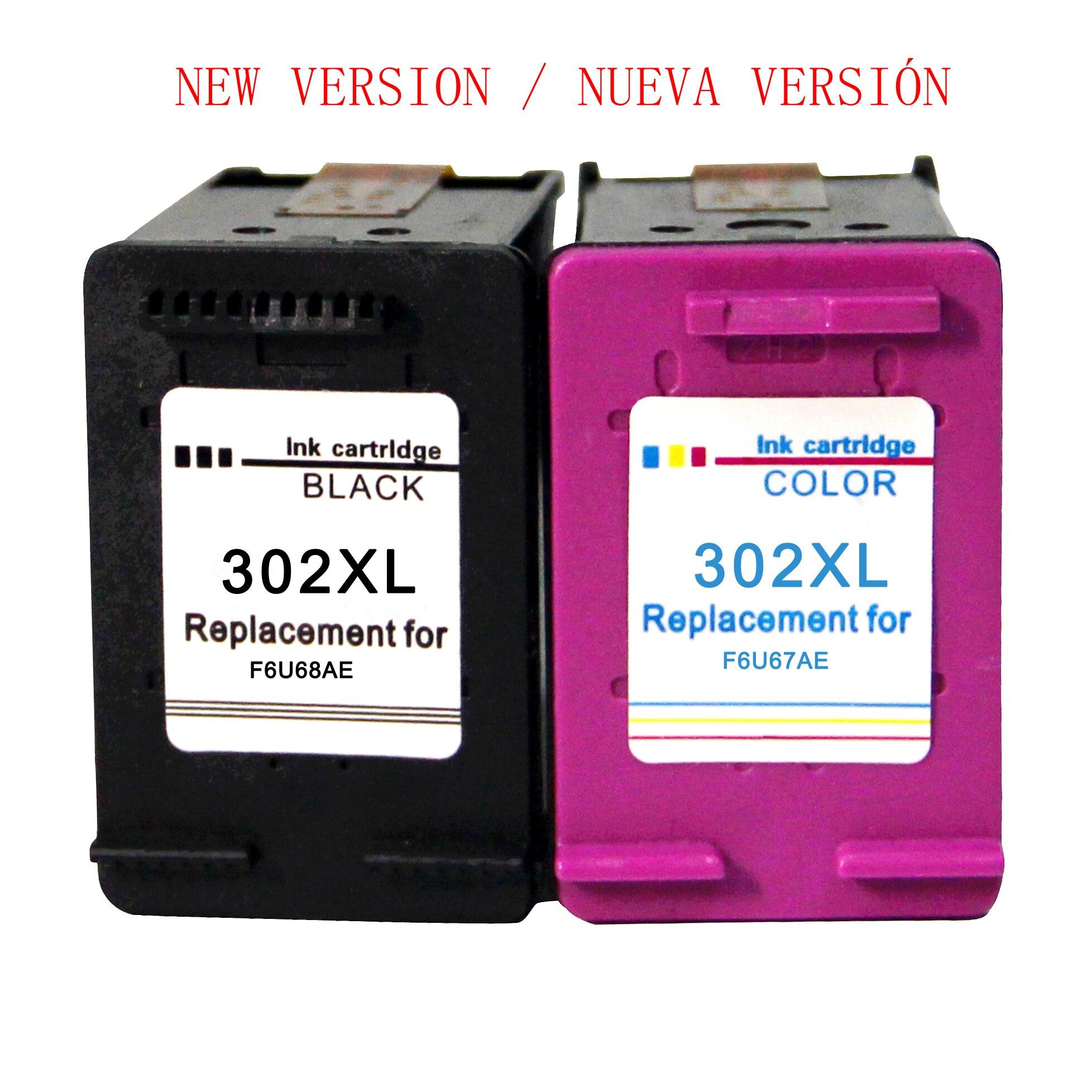 302XL Cartuchos de tinta compatíveis para HP 302 para HP OfficeJet 5220 5222 5230 5232 3831 3833 Envy 4520 4524 deskJet 3639
