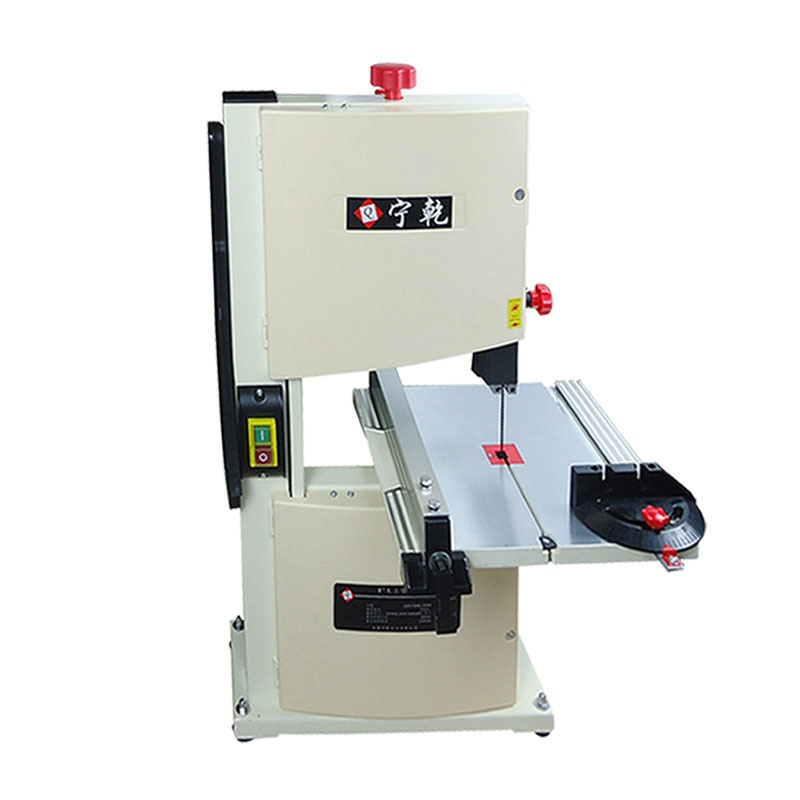 Small Band Saw Sawing Machine 9 inches Household Desktop Multifunction Metal Cutting Jigsaw Woodworking Beads Cutting Machine