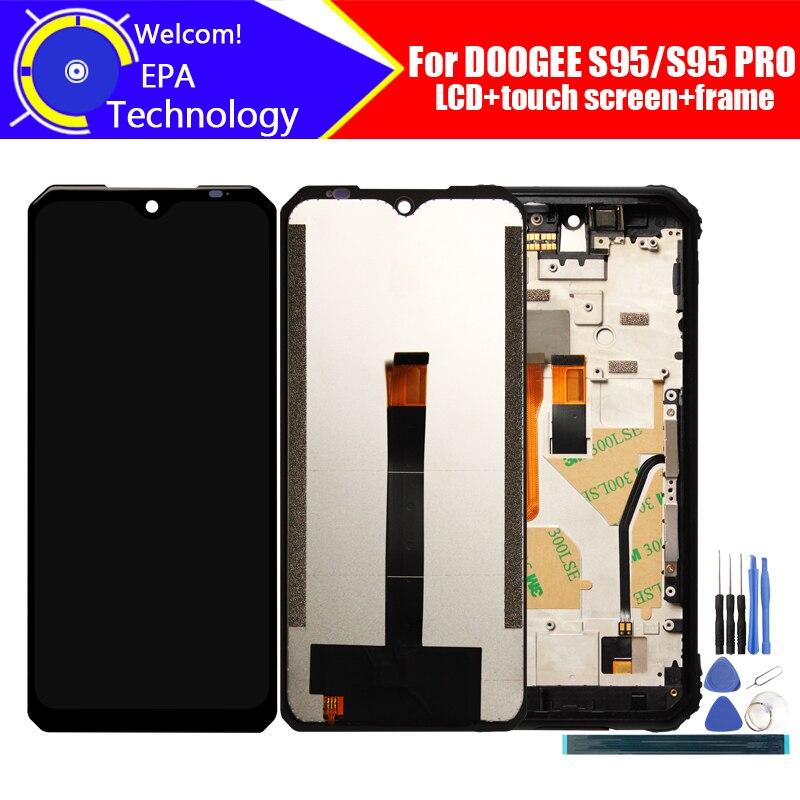 شاشة عرض LCD 6.3 بوصة Doogee S95 + شاشة لمس محول رقمي تجميع 100% شاشة LCD أصلية + محول رقمي باللمس لـ DOOGEE S95 PRO + أدوات
