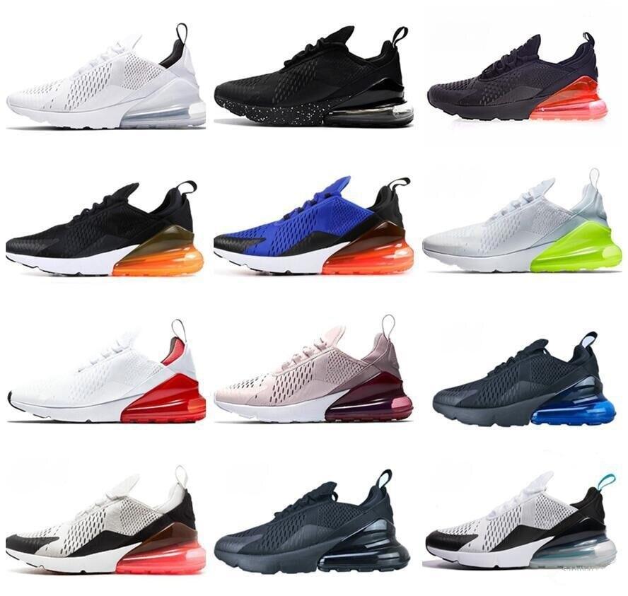 270 azul para hombre mujeres corriendo zapatos Triple Universidad blanca Oliva rojo...