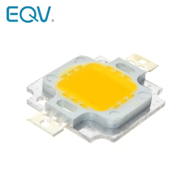 10 Uds 10W LED 10W blanco cálido verde RGB amarillo RGB 800-900LM LED Bombilla IC lámpara SMD luz diurna blanca de alta potencia LED 3000 K-3200 K