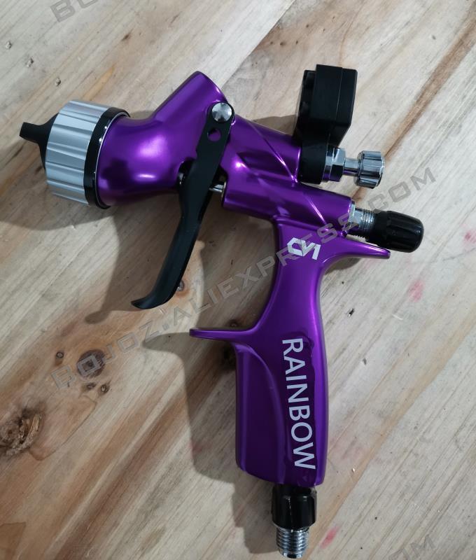 2020 HVLP PLUS Spray Gun WITH MINI Digital Air Regulator Gauge spray gun Mini digital regulator FOR DV Pistol DGI PRO POD